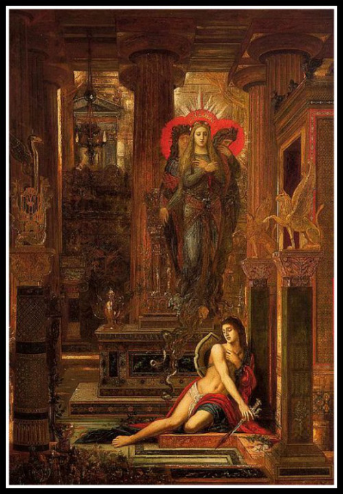 """""""Orestes and the Erynies"""" by Gustave Moreau (1891)."""