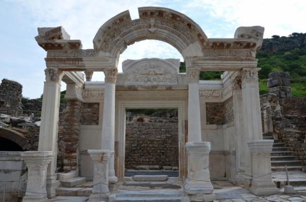 The Temple of Hadrian on Curetes Street, Ephesus, Turkey Carole Raddato CC BY-SA