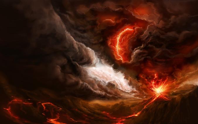 Volcano eruption art Courtesy of http://7-themes.com/6951244-volcano-eruption-art.html