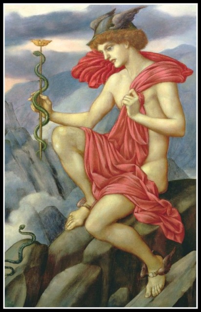 """""""Mercury"""" by Evelyn De Morgan. 1873"""