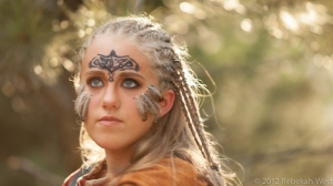 Celtic Woman Warrior in Forest