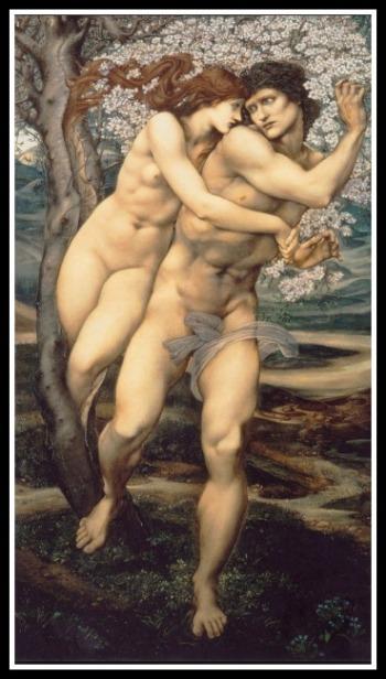 """The Tree of Forgiveness."" by Edward Burne-Jones. 19th century."