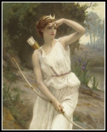 """""""Diana, The Huntress"""" by Guillaume Seignac. 19th century."""
